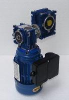 Komplet s dvou převodovek DMRV030/040+0,12kW/4p. 230V; n2= 2,3 ot/min